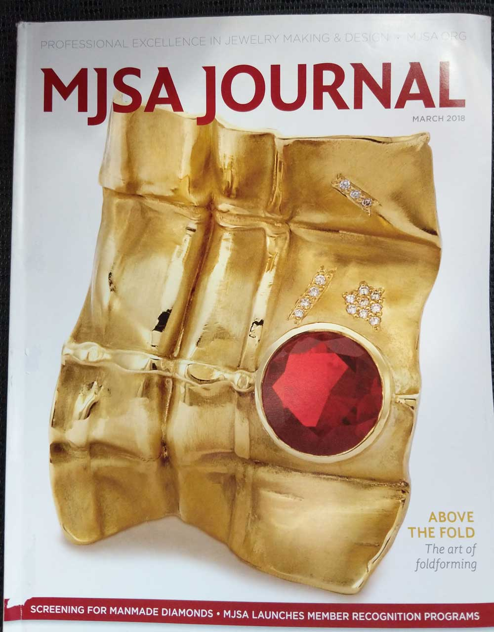 Cover of MJSA Journal, March 2018